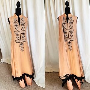 Dresses & Skirts - Pakistani Outfit in peach and black